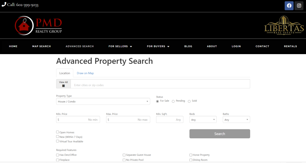 Advanced ARMLS Property search for real estate homes and property for sale in the Phoenix West VAlley and Maricopa County includinhg Goodyear, Avondale, Litchfield Park, Buckeye, Verrado, Estrella, Sun City, Surprise, Waddell and Peoria