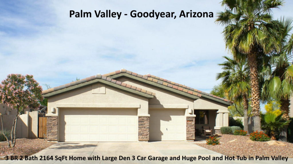 home for sale in Palm Valley in Goodyear Arizona