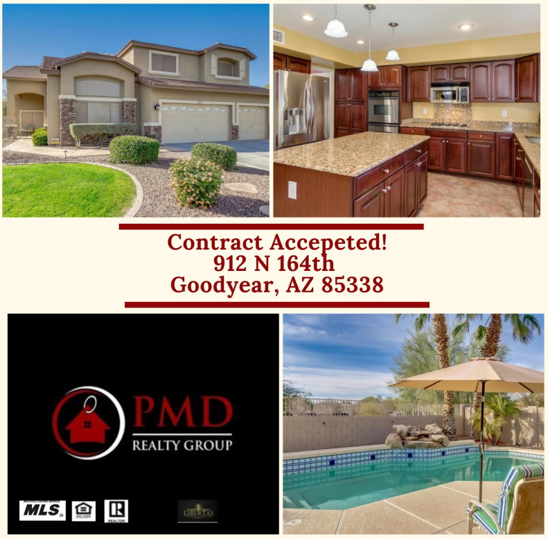 PMD Realty Group Contract accepted for buyer real estate client in Canyon Trails in Goodyear Arizona