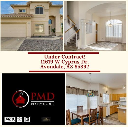 Seller Home For Sale Listing in Avondale Under Contract Pending Sale in Garden Lakes in Avondale AZ. by PMD Realty Group