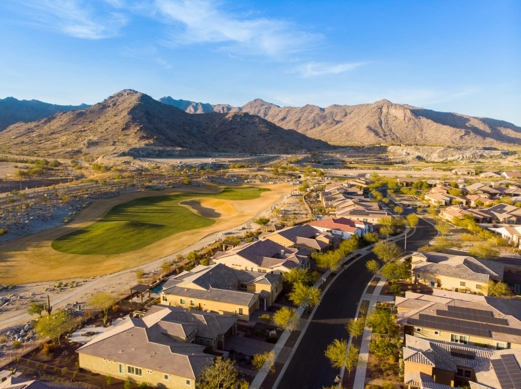 Aerial View of Golf Course Home For Sale at Victory in Verrado in Buckeye Arizona