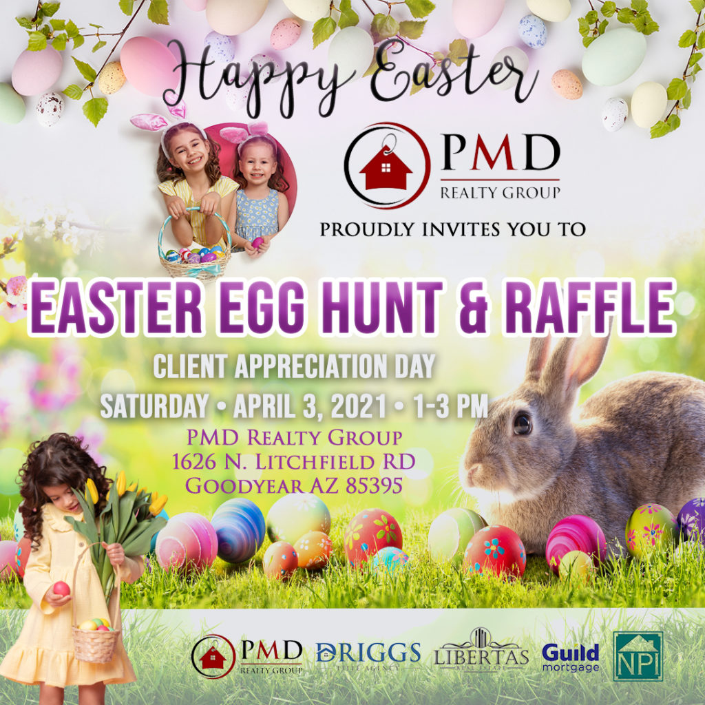 Easter Egg Hunt and Raffle PMD Realty Group Goodyear AZ