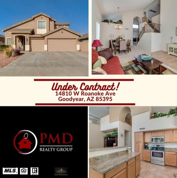Home for sale in Goodyear Arizona Under Contract Sold by PMD Realty Group in Goodyear, Arizona