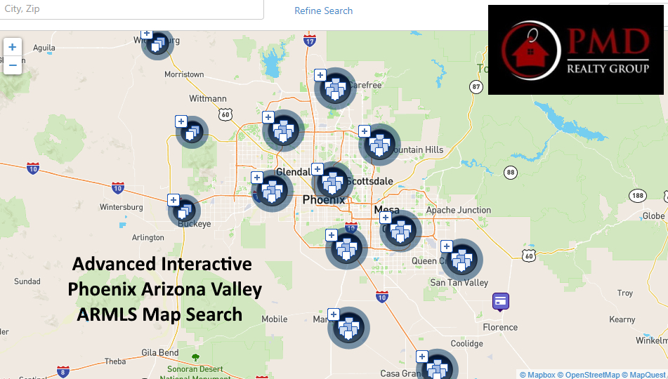 ARMLS Arizona MLS Interactive Map Search for real estate homes and properties for sale in the Phoenix Arizona Valley including Garden Lakes in Avondale AZ