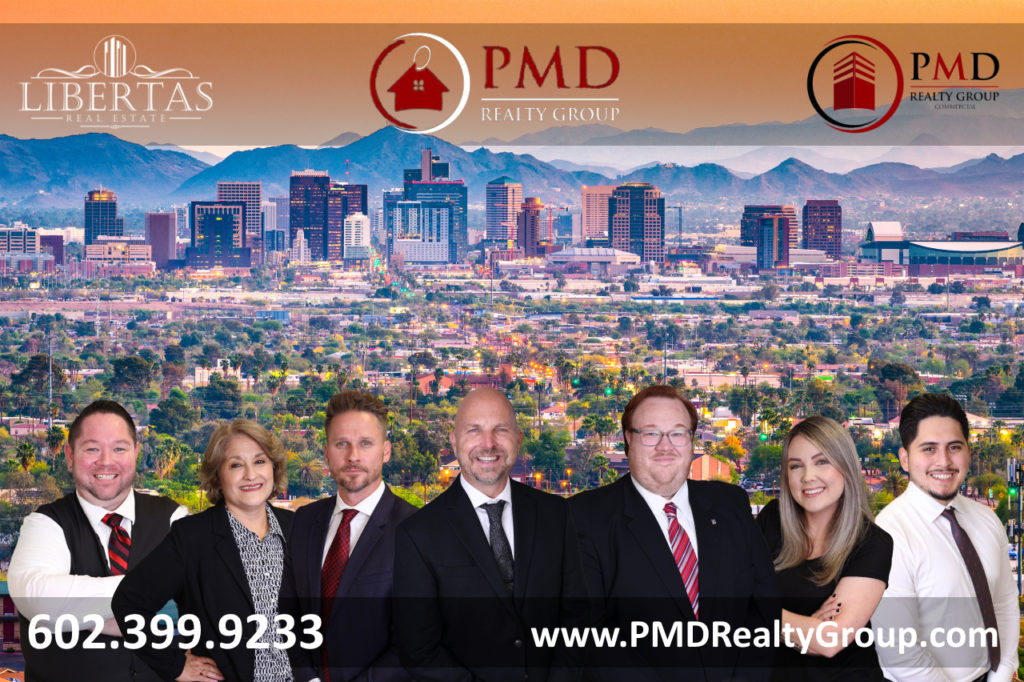 PMD Realty Group Libertas Real Estate Phoenix Arizona Residential Real Estate and Commercial Real Estate Sales Team