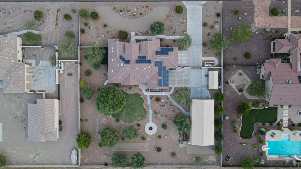 Aerial View of real estate for sale property at 19620 W CORTO LN Buckeye AZ 85326
